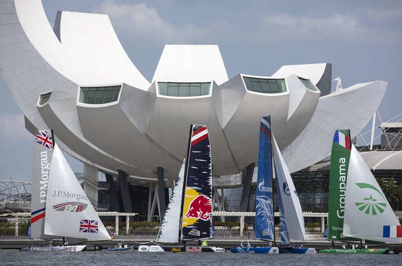 Extreme Sailing World Series 2014 Singapore Bild-01