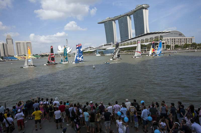 Extreme Sailing World Series 2014 Singapore Bild-08