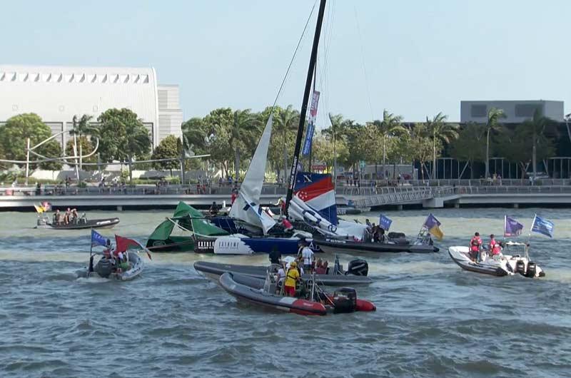 Extreme Sailing World Series 2014 Singapore Bild-14