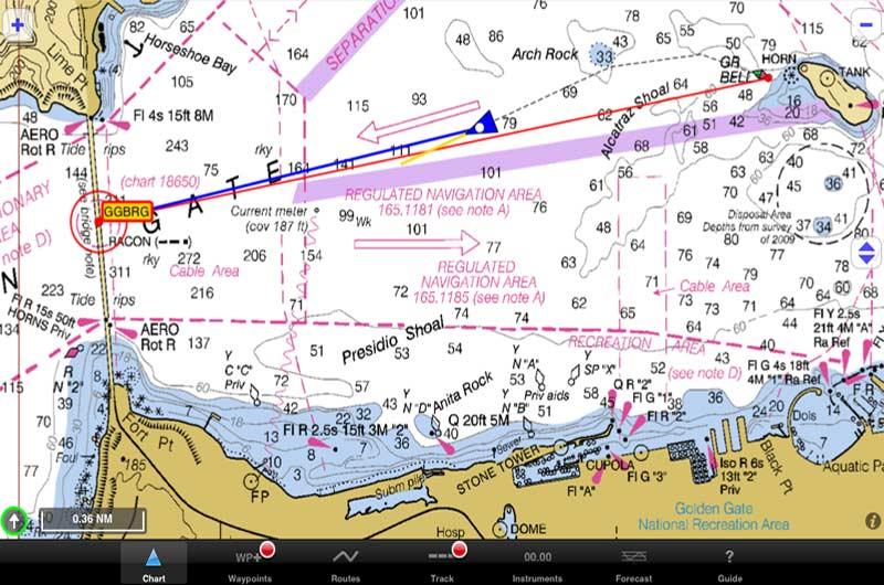 Bootsnavigation App iNavX Marine Navigation