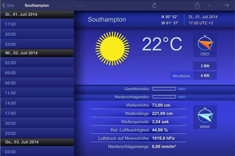 Wetter Apps Seewetter für Bootsfahrer 02