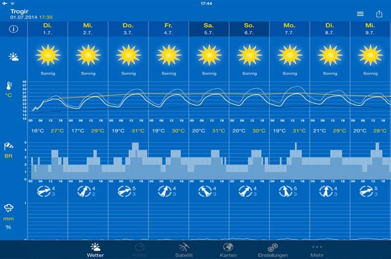 Wetter Apps Seewetter für Bootsfahrer 04