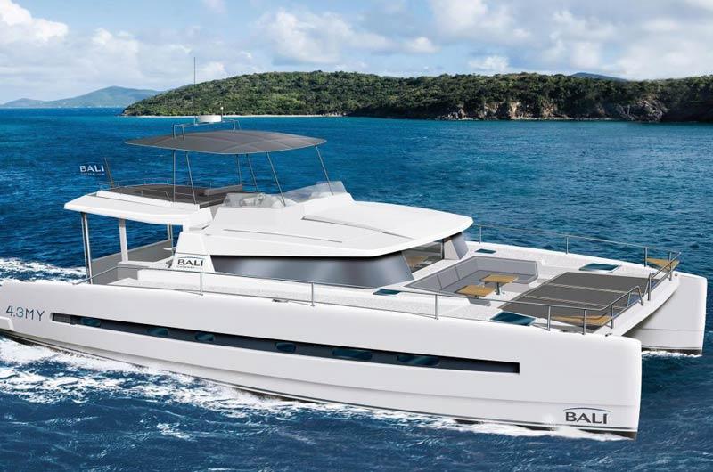 Bali 4.3 Motorkatamaran der französischen Werft Bali Catamarans