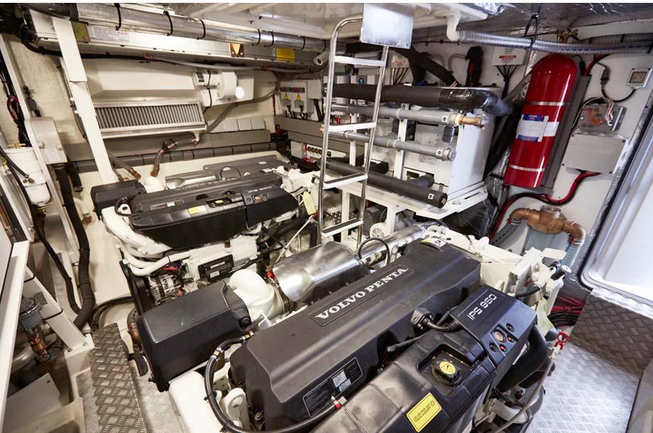 Prestige 630 Yacht Motorraum