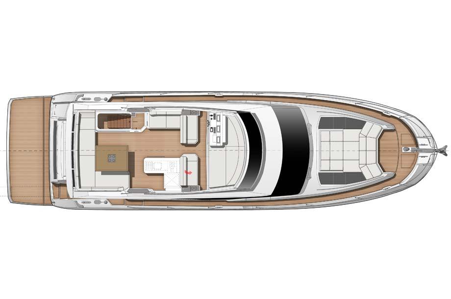 Prestige 630 Yacht Grundiss Fly