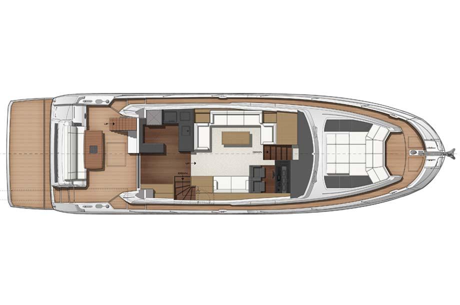 Prestige 630 Yacht Grundriss Main Deck