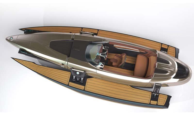 Koramaran Boot von oben