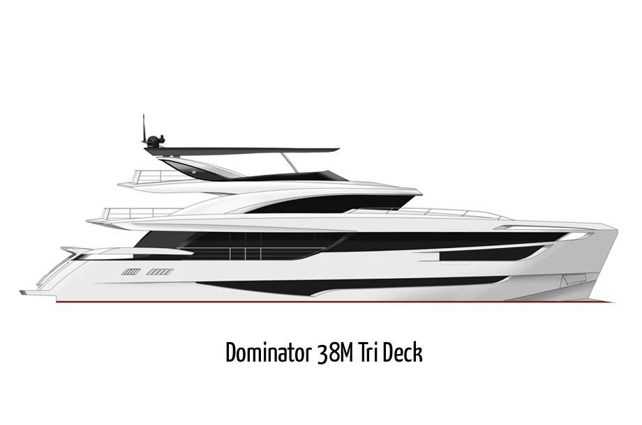 Dominator 38M Tri Deck