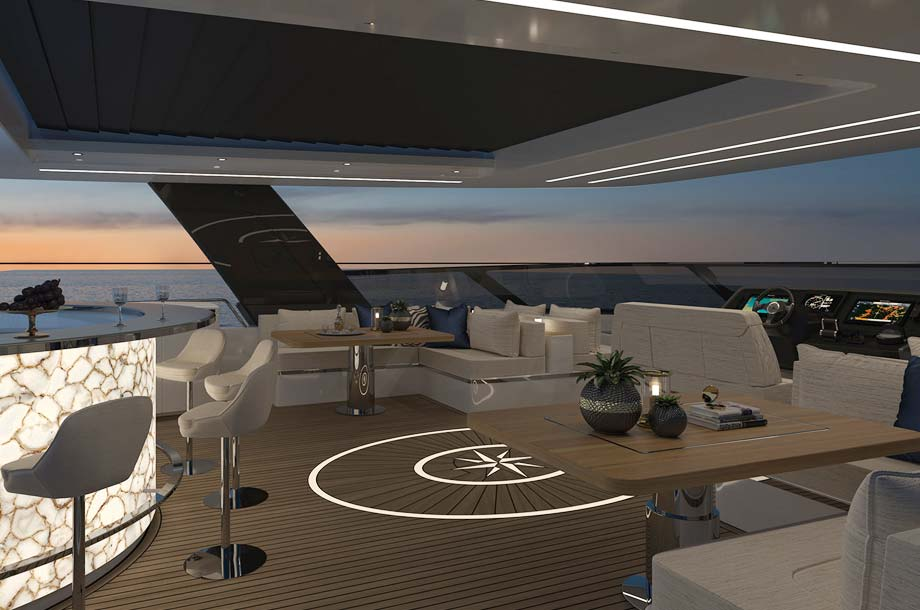 Flybridge 80 Sunreef Power Katamaran
