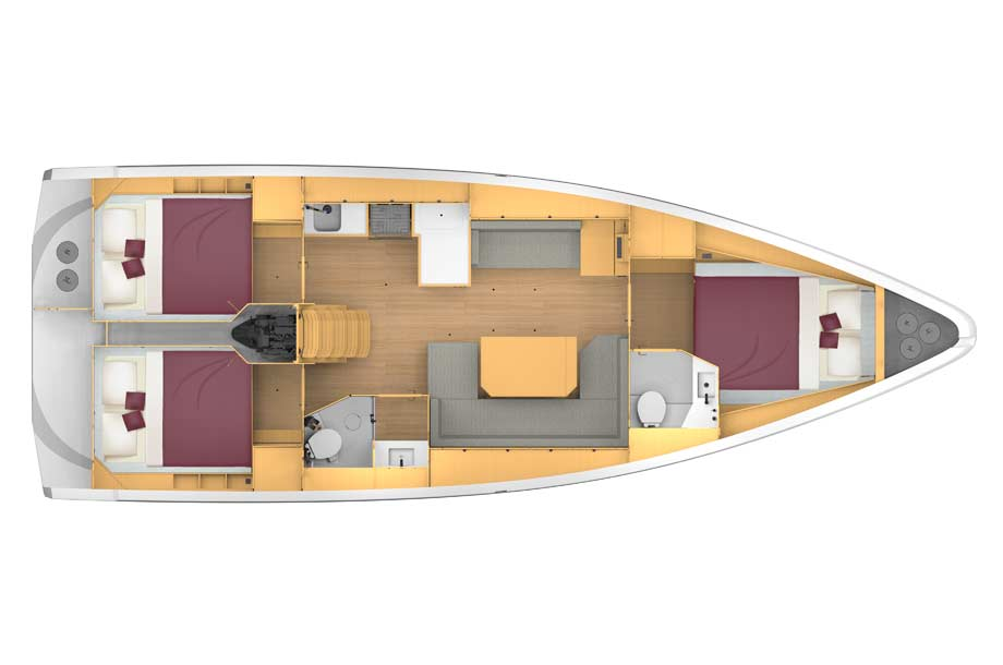 Bavaria C42 Layout